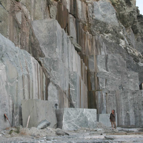 marble quarry in Tinos, Greece