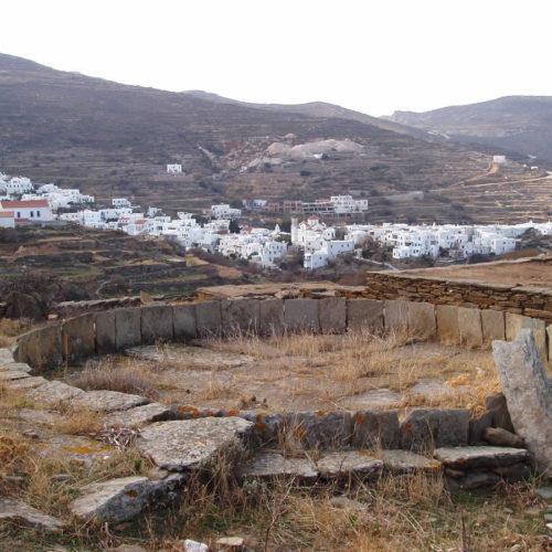 old threshing floor in Pyrgos village, Tinos
